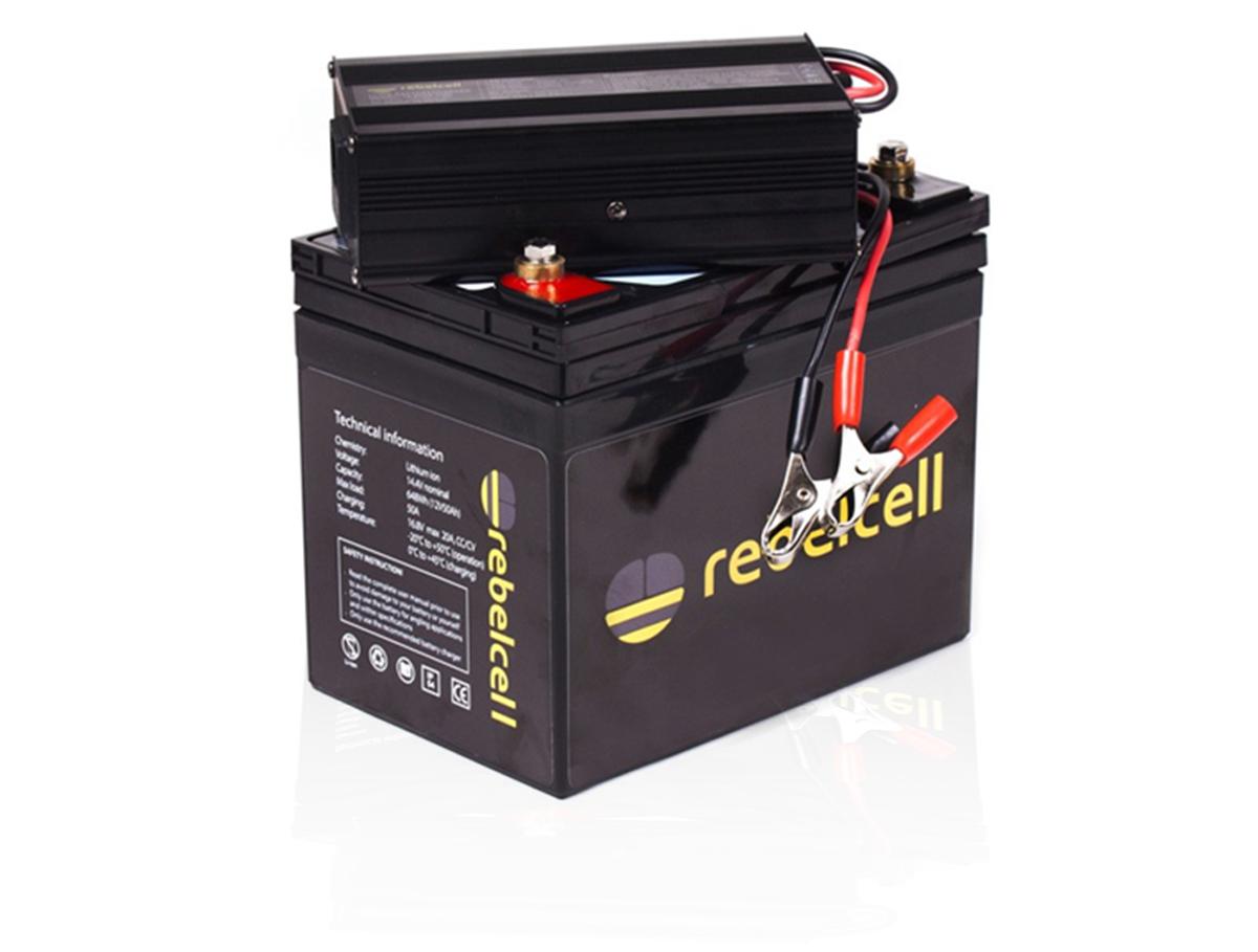 rebelcell liion batterie charger produkt - Schluss mit schleppen!