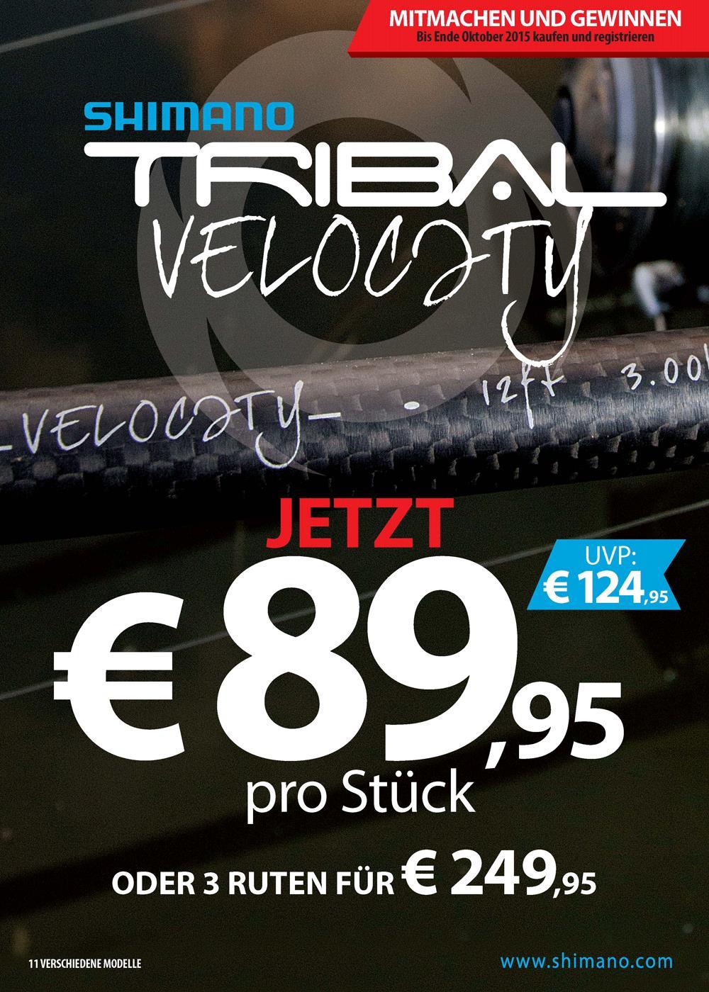velocity - Brandheisses Shimano Angebot