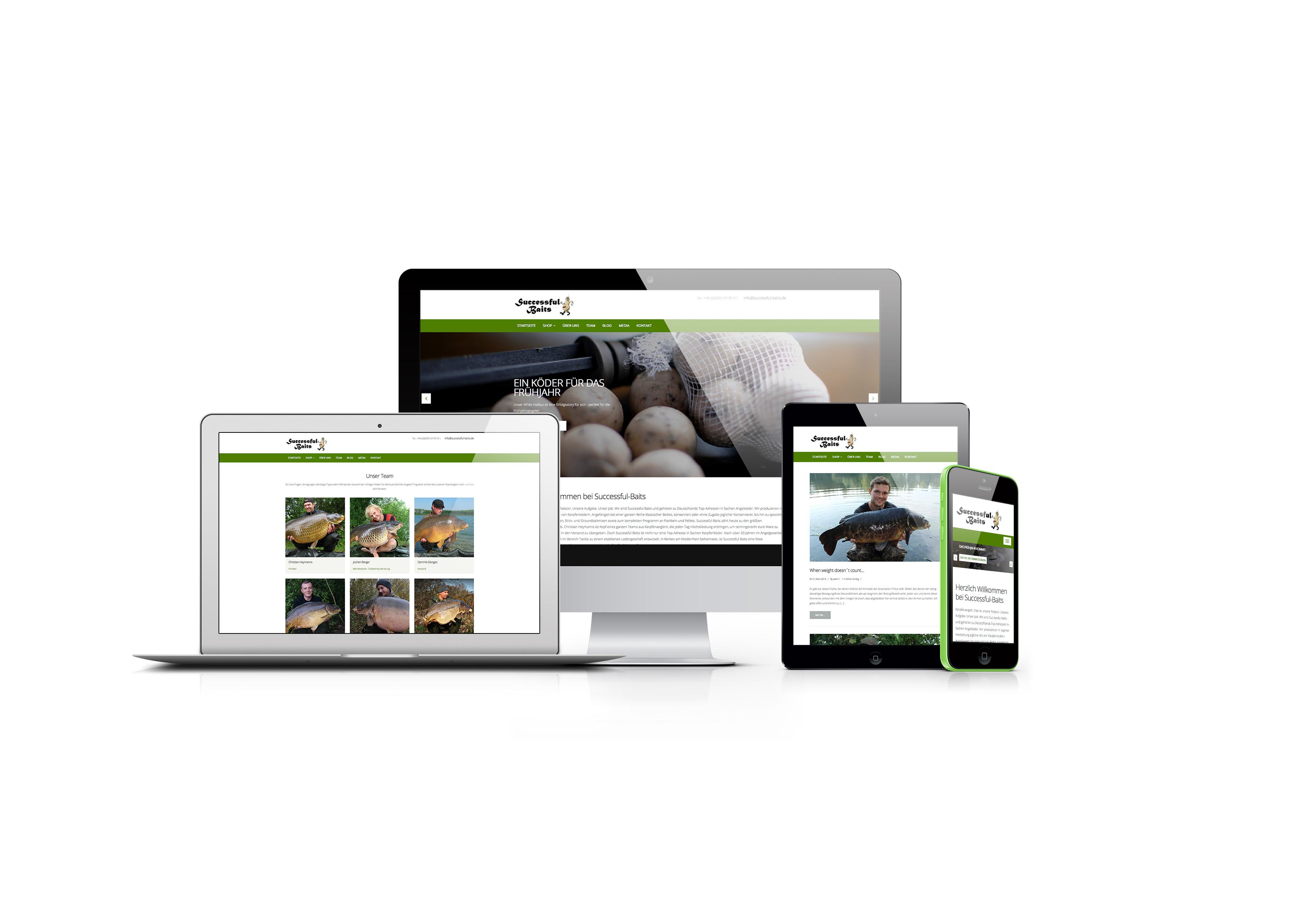 Successful Baits Webseite - Neuer Webauftritt von Successful Baits