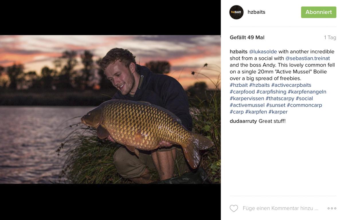 Bildschirmfoto 2016 10 11 um 11.58.01 -  - Video, news, Lukas Olde, instagram, HZ-Baits, Foto