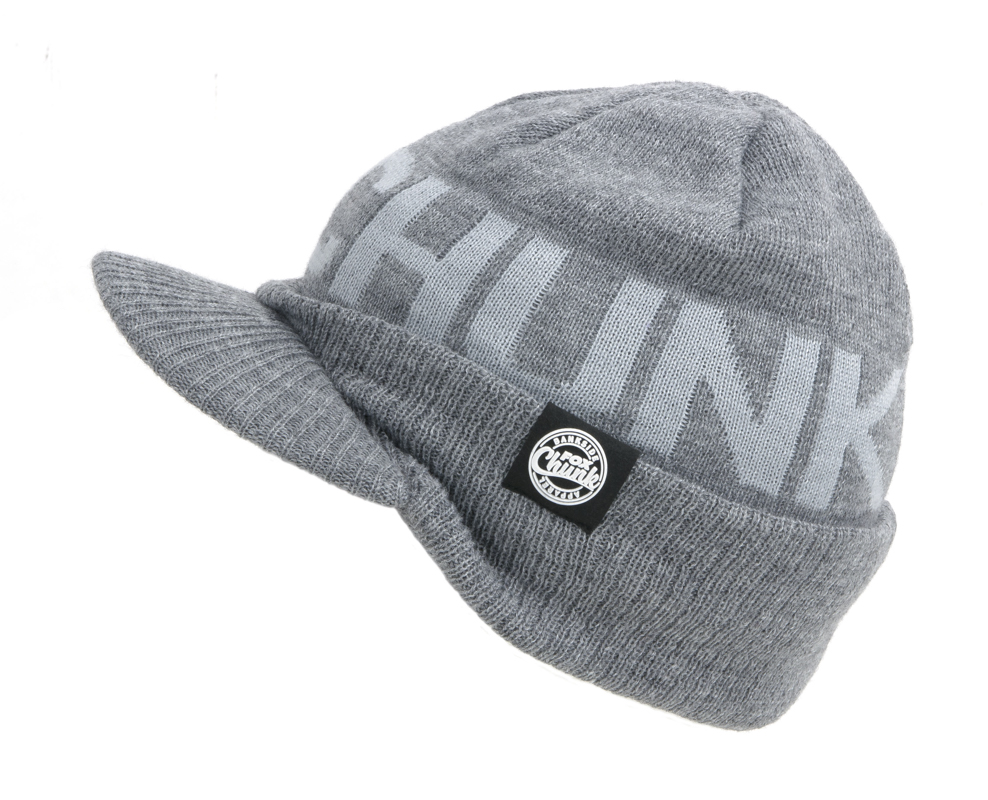 Grey Peaked Beanie - Stylische News vom Fuchs - Fox Chunk Headwear