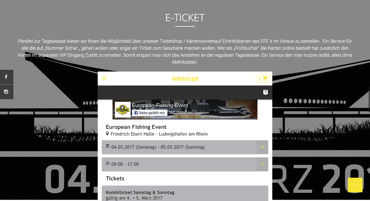Bildschirmfoto 2017 01 15 um 14.00.59 -  - Online kaufen, März, Ludwigshafen am Rhein, karpfenangeln, EFE 2017, E-Ticket, Carpmeeting Speyer, Bernhard Kilian