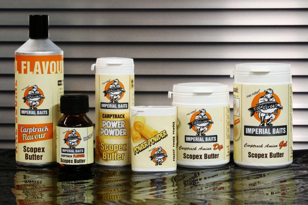 IB Carptrack Scopex Butter Additivs -  - Tutti-Frutti, Scopex Butter, Roasted Peanut, Newcomer, Imperial-Baits, Carptrack Power Powders, Carptrack Flavour, Amino Gel, Amino Dip