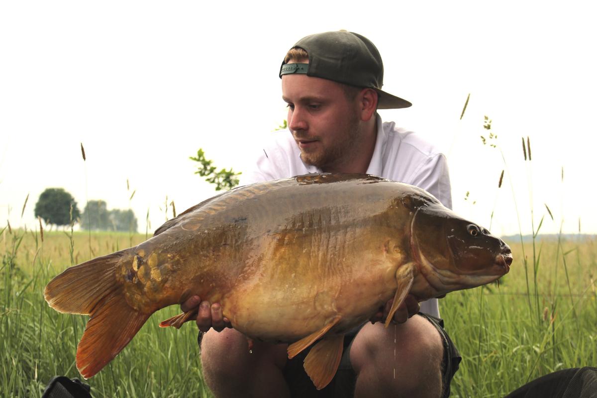 Mein grösster Fisch an diesem Wochenende mit 14kg - gefangen auf einen 24mm M3 Wafter.