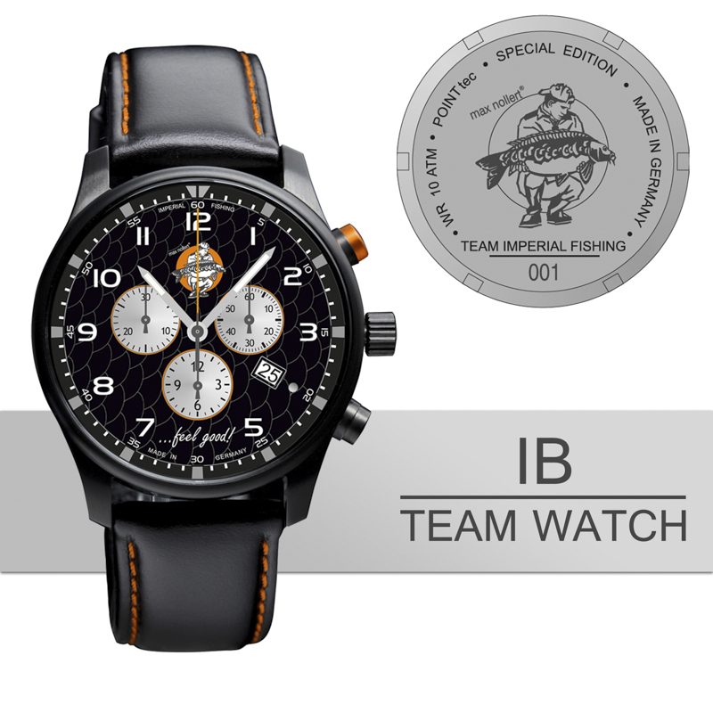 20170817 IB Team Watch Detailbild - Zeit für ne Session? - Bald mit Imperial Baits Watch!