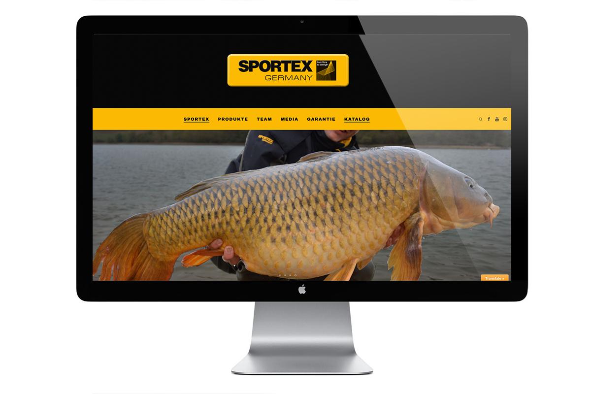 Sportex Webseite1 -  - Sportex, Rutenbau, Ruten, neue Website, modern, Kryston, Design, Climax
