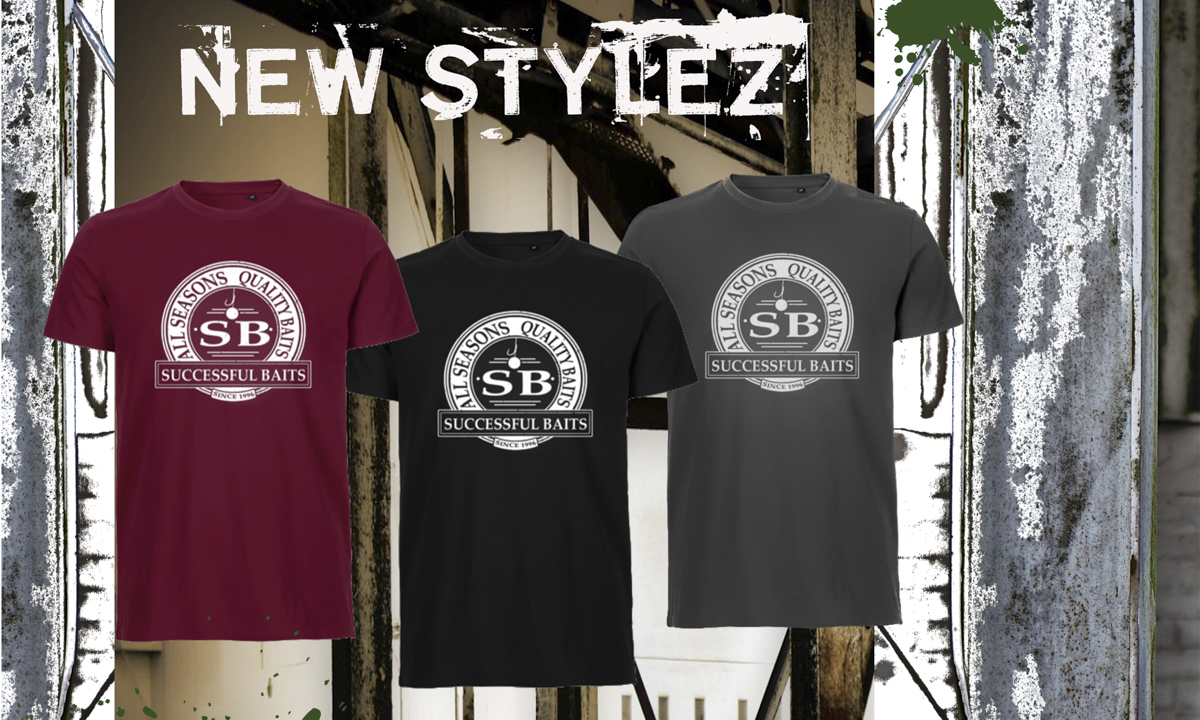 NewStylezShirt1 -  - wear, T-Shirt, successful-baits, Style, red, New, Kleidung, Hoody, grey, cool, boilies, Black, bekleidung, Baits