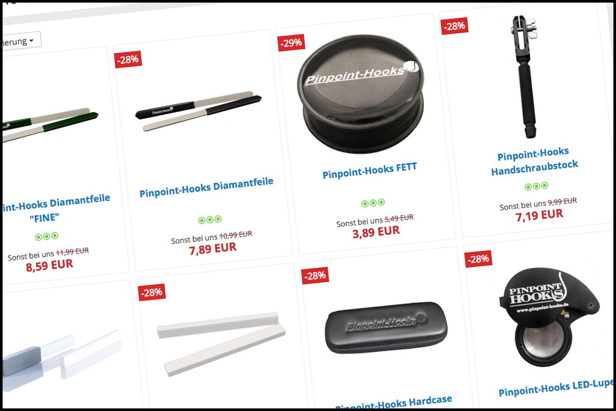 pinpoint kl1 - Pin Point Produkte zum Special-Kurs!