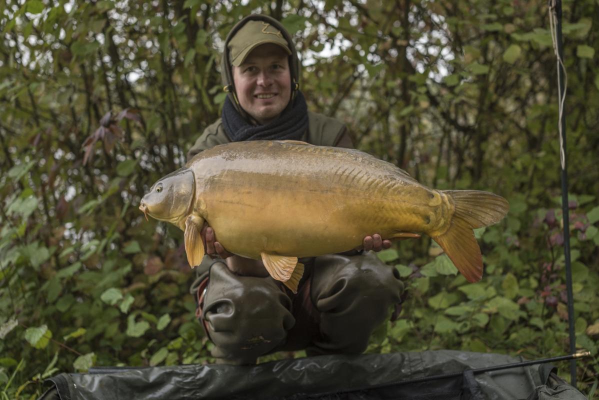 Action während des Tutorials! Klaus Wegmann mit einem goldenen Herbstgast...