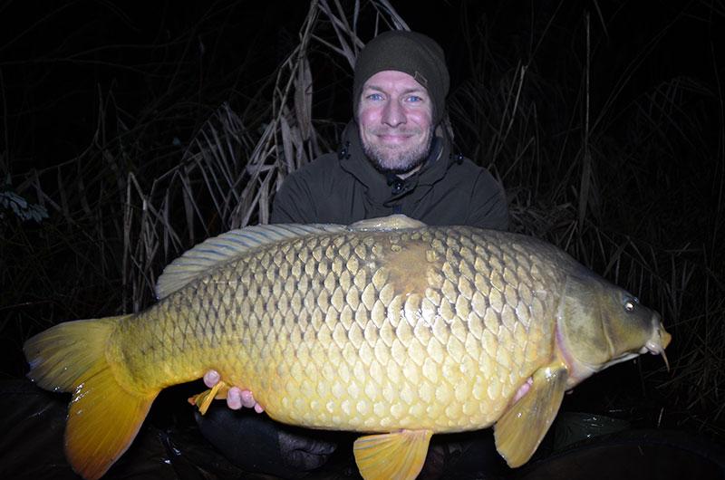 Der erste Fisch des neuen Jahres – direkt über 15 kg.