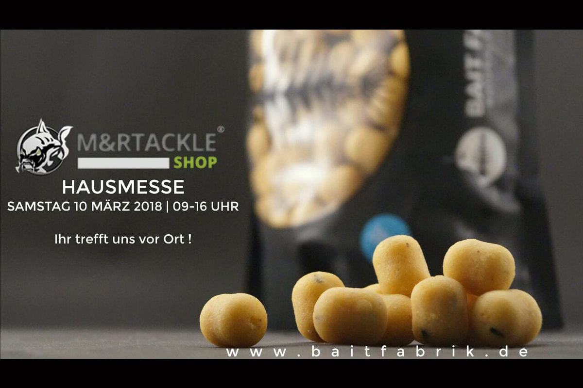 Titelbild Bait Fabrik 1 -  - M&R Tackle Shop, M&R Tackle, Karpfen, Hausmesse, boilies, Baits, Bait Fabrik, Action