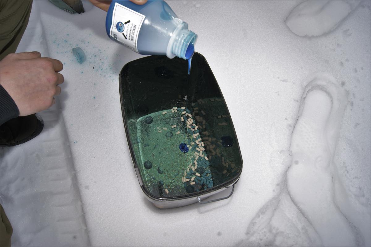 5 2 -  - Winter, Voodoo+, Schnee, Pellets, Minamino, Karpfen, Kaltwasser, kalt, Dreambaits