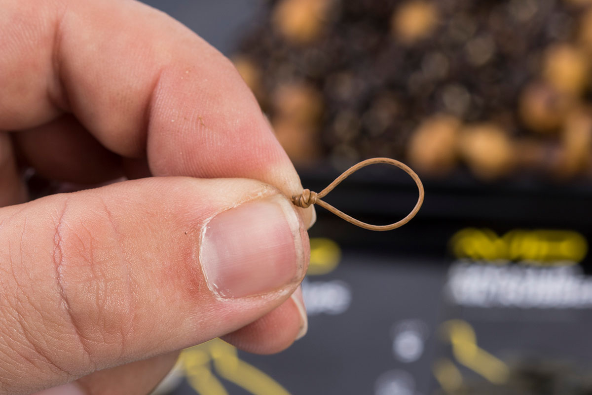 9 Tie a loop in the opposite end of the Captive Braid leaving the coating on 1 -  - Flusskarpfen, Avid Carp