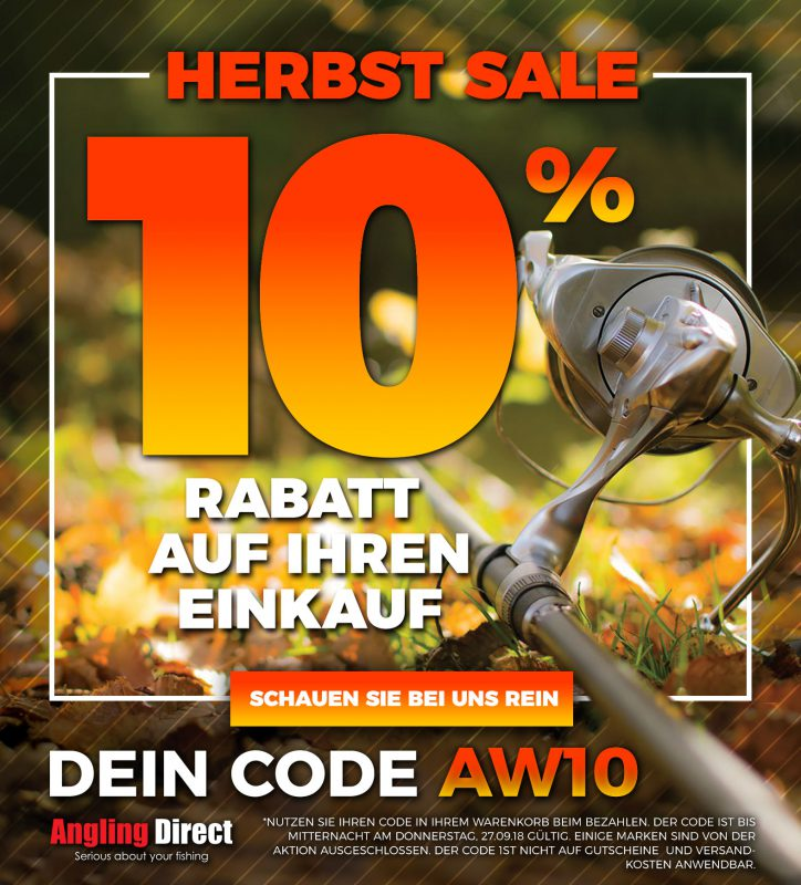 10 Percent Autumn Sale FB Square German 724x800 -  - Angling Direct