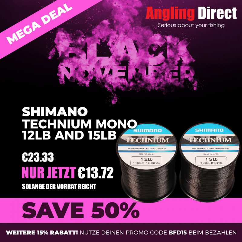 1Black Friday 2018 Product Square ShimanoDualline Mega Deal 800x800 -  - Angling Direct