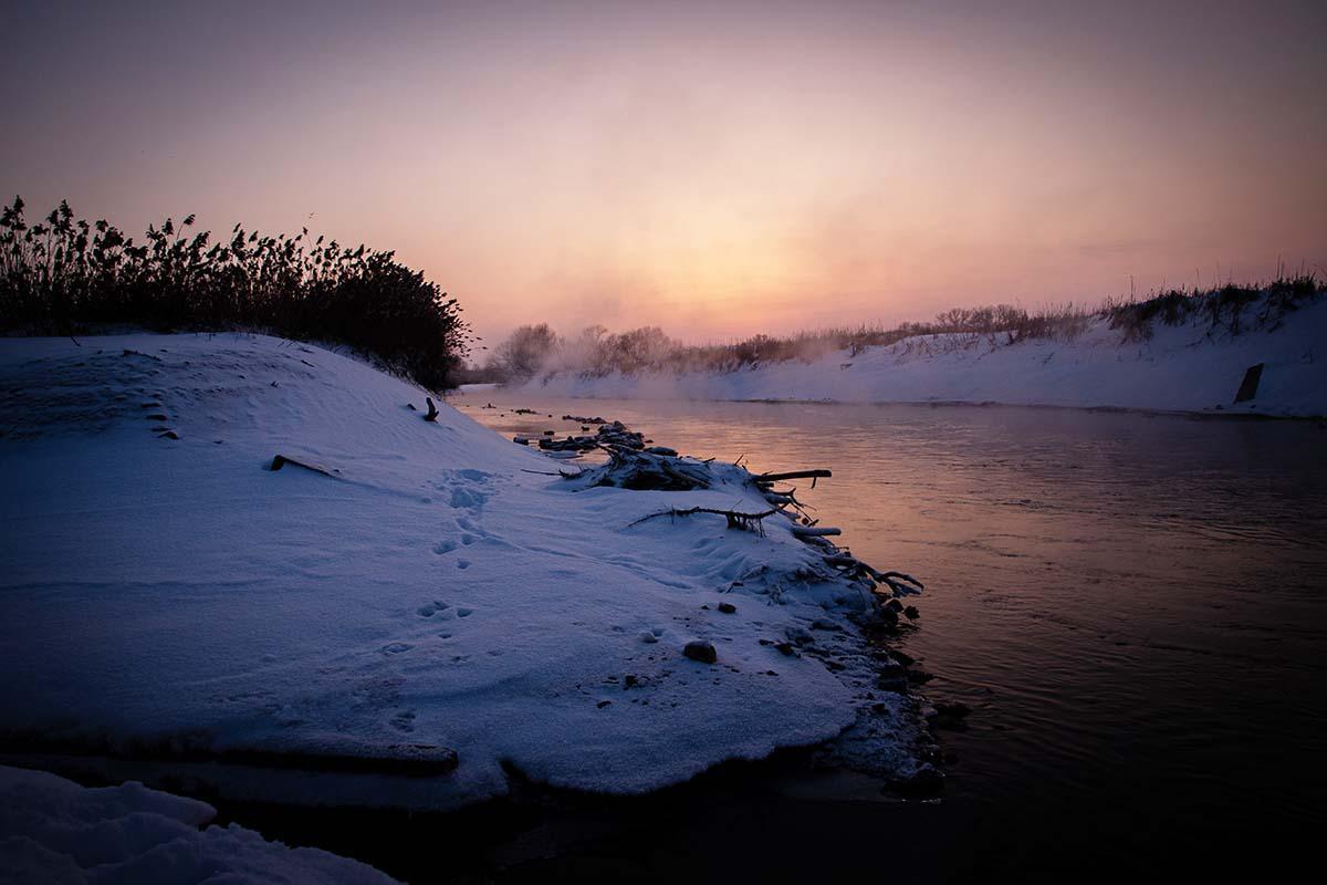 twelvefeetmag location am fluss im winter 5 -  - winterkarpfen, Winterfischen am Fluss, Location am Fluss, Location, Janik Wolf