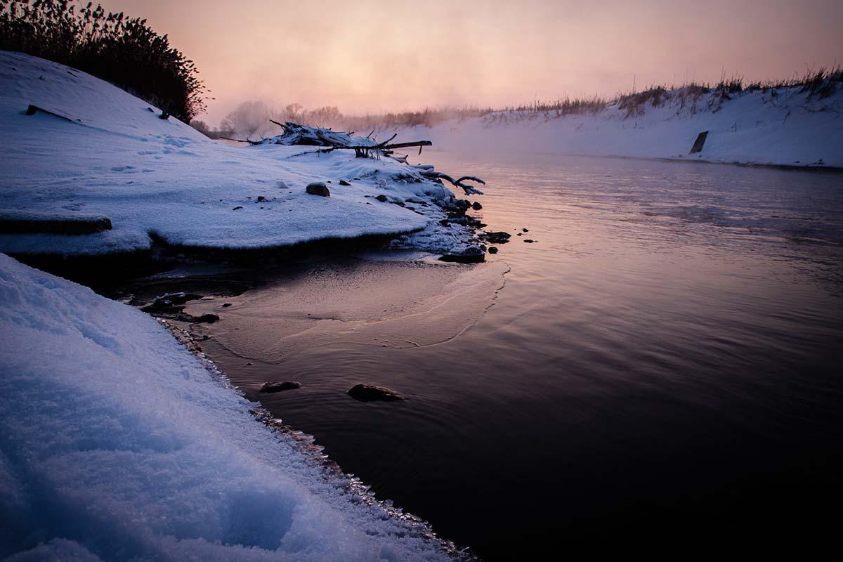 twelvefeetmag location am fluss im winter 6 -  - winterkarpfen, Winterfischen am Fluss, Location am Fluss, Location, Janik Wolf