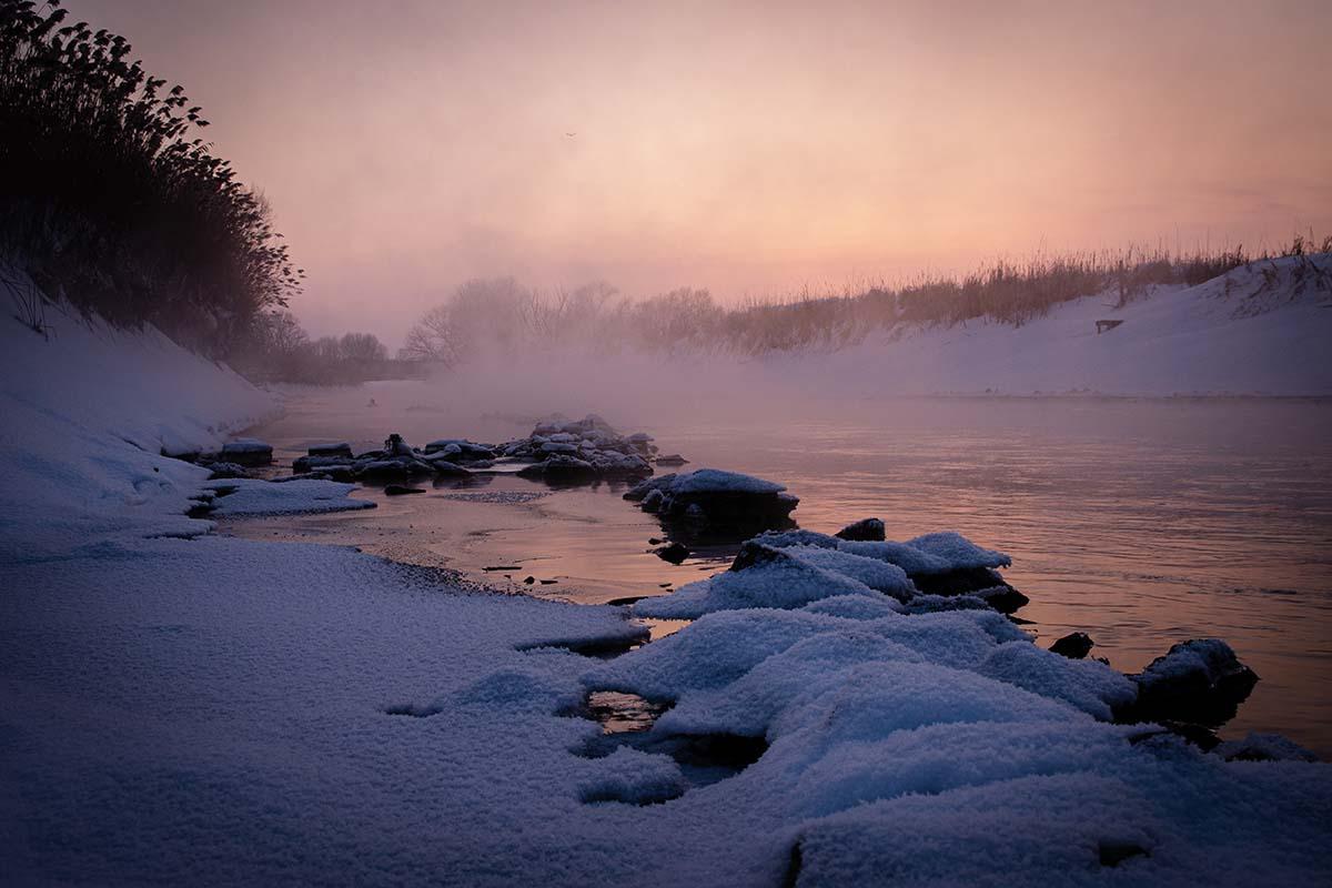 twelvefeetmag location am fluss im winter 7 -  - winterkarpfen, Winterfischen am Fluss, Location am Fluss, Location, Janik Wolf